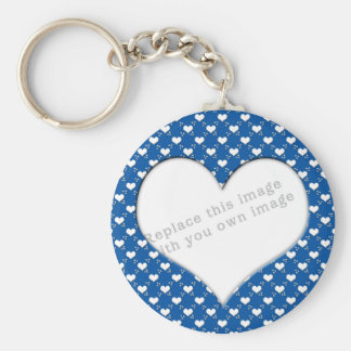 "Template ""Cute Hearts"" Keychain"