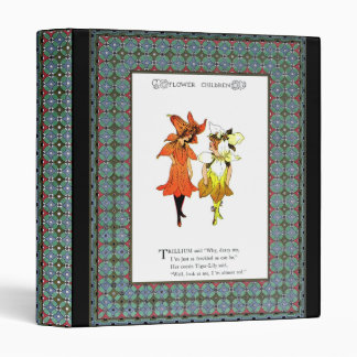 Template - Decorative Colorful Frame Border 3 Ring Binders