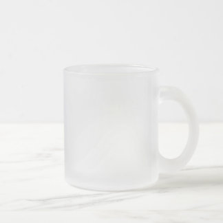 Template diy Add text photo change color Frosted Glass Coffee Mug