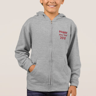 Template DIY editable text Happy New Year 2018 Hoodie