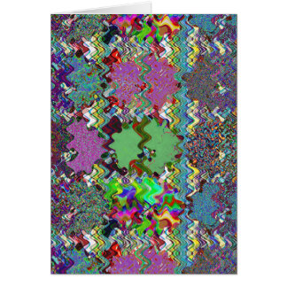 Template DIY Waves Patterns Textures Colorful Gift Greeting Card