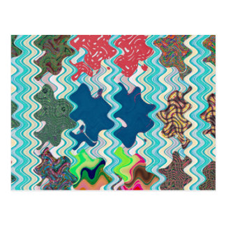 Template DIY Waves Patterns Textures Colorful Gift Postcard