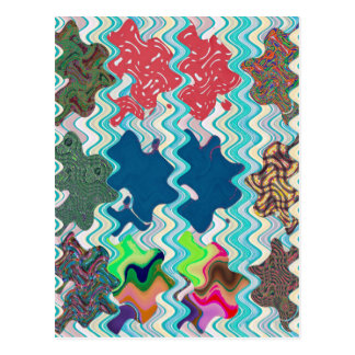Template DIY Waves Patterns Textures Colorful Gift Post Card