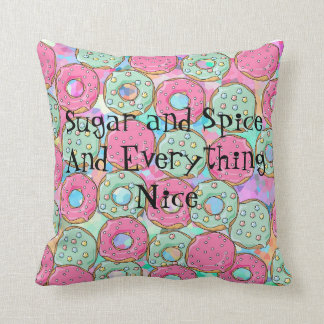 Template Donut Cookie Candy Design Throw Pillow