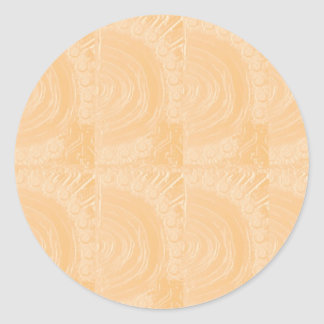 Template Engraved Gold Foil : Add Text Image Classic Round Sticker