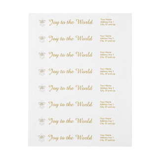 Template - Filigree Christmas Angel of Joy Wrap Around Label