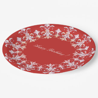 TEMPLATE-French-Red-White-Celebration's-_Unisex Paper Plate