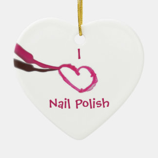 Template Love Nail Polish Ceramic Ornament