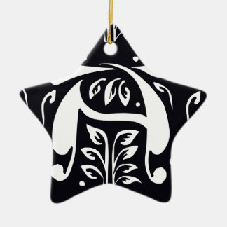 template Double-Sided star ceramic christmas ornament