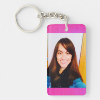 Template photo rectangle keychain