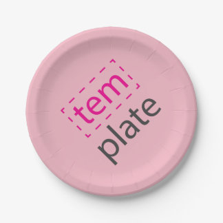 Template plate 7 inch paper plate