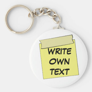 Template Post It Note- Tape (Add Own Text) Key Chain