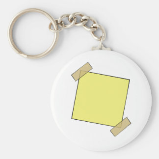 Template- Post It Note Tape Key Chain