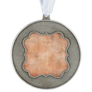 template scalloped pewter ornament
