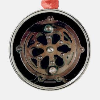 template Silver-Colored round ornament