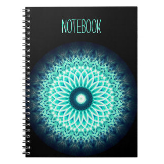 Template Text   Blue Lotus Mandala Notebook