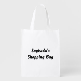 Template Text Reusable Bag Reusable Grocery Bags