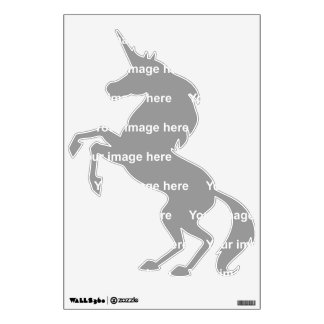 template unicorn rearing up Wall Decal