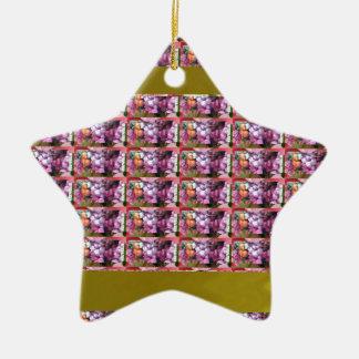 TEMPLATE Vertical Art Ceramic Star Ornament