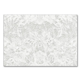 Template - White Lace Background Table Card