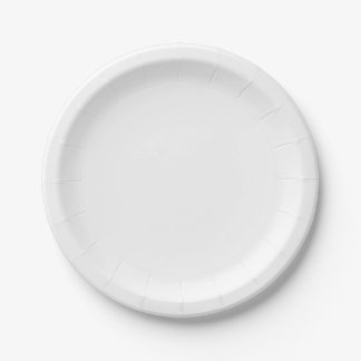 Template White Paper Plate