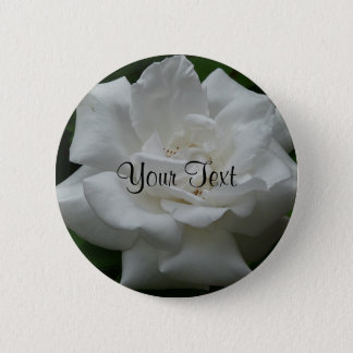 Template White Rose 2 Inch Round Button