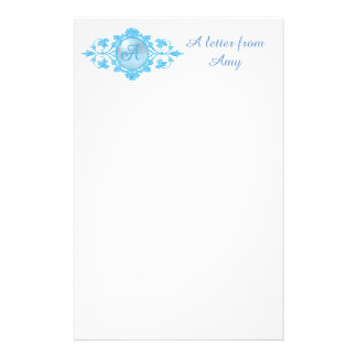 Template with Monogram A Personalized Stationery