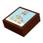 Template XMAS SQ Solid BG Gift Box