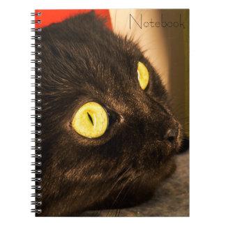 Templated Text | Cute Cat Face Notebook