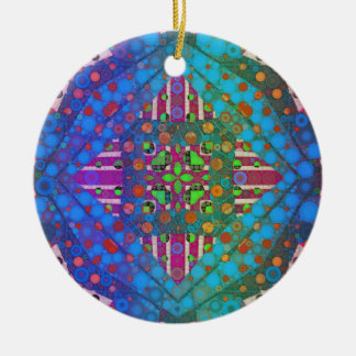Templates Double-Sided Ceramic Round Christmas Ornament