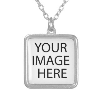 Templates paste or replace your Photo Image Text Silver Plated Necklace