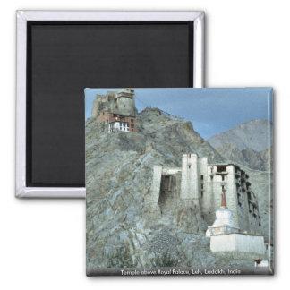 Temple above Royal Palace, Leh, Ladakh, India Magnet