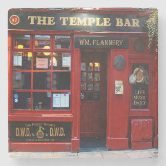 Temple Bar, Dublin, Irish Pub Marble Coaster. Stone Coaster