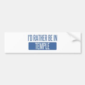 Temple Bumper Sticker