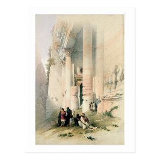Temple called El Khasne, Petra, March 7th 1839, pl Postcard
