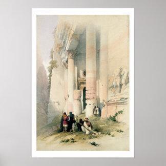 Temple called El Khasne, Petra, March 7th 1839, pl Posters