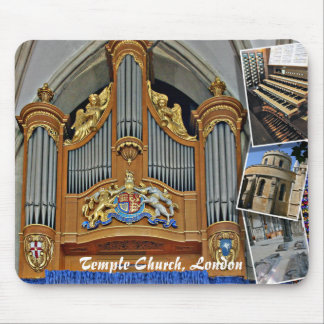 Temple Church, London, England pipe organ mousepad