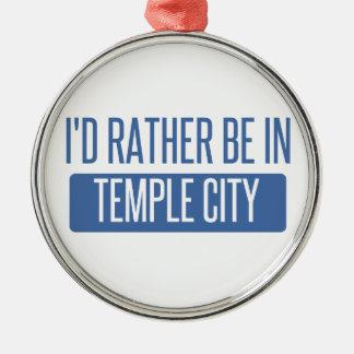 Temple City Metal Ornament
