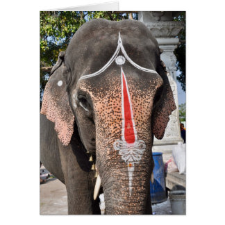 Temple Elephant Card