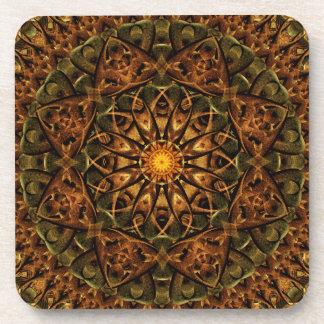 Temple Eye Mandala Beverage Coasters