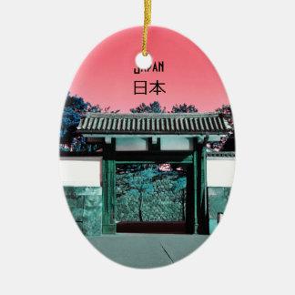 Temple gate in Tokyo, Japan Ceramic Ornament