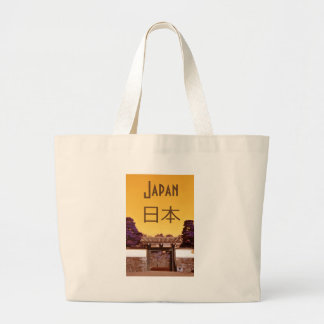 Temple gate in Tokyo, Japan Large Tote Bag