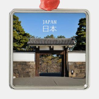 Temple gate in Tokyo, Japan Metal Ornament