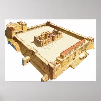 Temple in Jerusalem. Herod's Temple Poster
