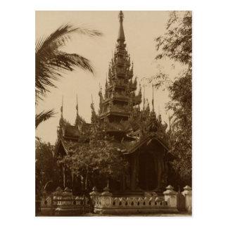 Temple in Mandalay, Burma, late 19th century Postcard
