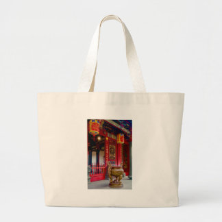 Temple in Yilan, Taiwan Large Tote Bag