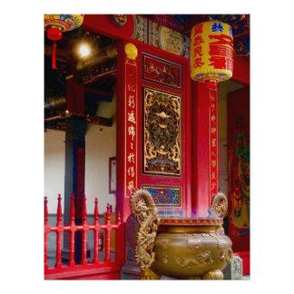 Temple in Yilan, Taiwan Letterhead