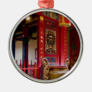 Temple in Yilan, Taiwan Metal Ornament
