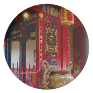 Temple in Yilan, Taiwan Plate
