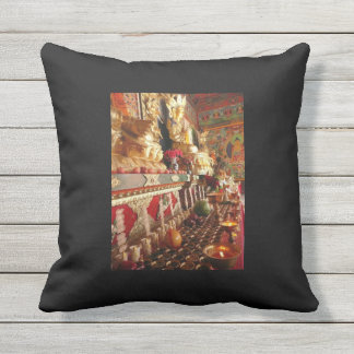 Temple/ Inner Mongolia Throw Pillow